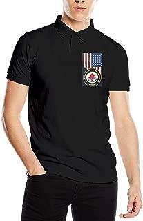OURTEE US Army 18th Military Police Brigade Veteran Men's Polo Shirt Golf Polo Shirt Collars Polo Shirt
