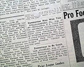 HAMMONTON NJ Little League Baseball WORLD SERIES Champions 1949 Old Newspaper THE NEW YORK TIMES, sport's section only, August 28, 1949