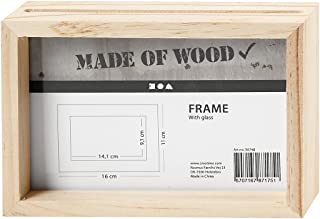 comprar comparacion Marco doble de 16 x 11 cm, profundidad 4 cm, pino 1 pieza, tamaño interior: 14,1 x 9,1 cm