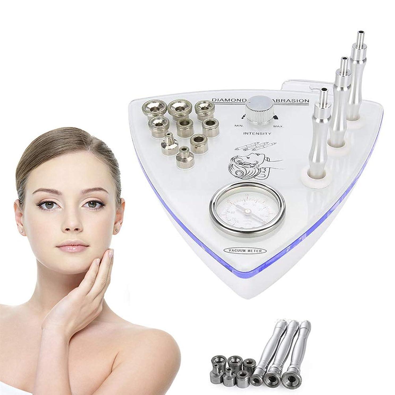 キルス記事スカーフ[アップグレード]ビッグサクションダイヤモンドマイクロダーマブレーションマシン、肌の若返り水保湿酸素スプレーガンフェイシャルケアサロン機器、個人家庭用 (Edition : UK PLUG)