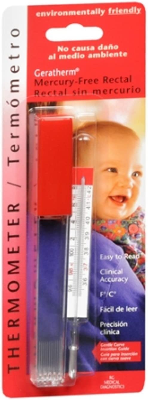 Thermometer Rectal Mercury Fr, Pack of 3 : Health & Household