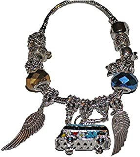 60's VW Volkswagen Van Peace Angel Wings Charm Bracelet is Beautiful for Grandma or MOM