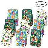 LUOEM Luau Hawaii Paper Treat Bolsas Summer Party Favor Bolsas de caramelo Bolsitas de papel Treat para Summer Boda Cumpleaños Baby Shower Party Gift Candy Cookie Cupcake Toy (Paquete de 12)