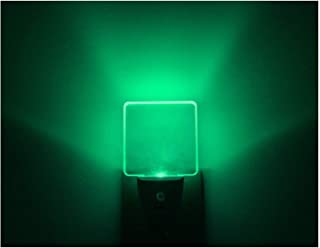 Bright Green Glow, UL Listed, Auto ON/Off Plug in LED Night Light with Dusk to Dawn Sensor [Pack of 2]