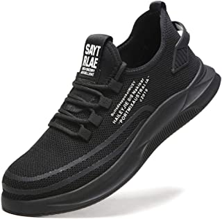 Steel Toe Safety Sports Shoes Anti-Piercing Breathable Mesh Anti-Slip Safety Protective Shoes Lightweight Work Black Safety Shoes