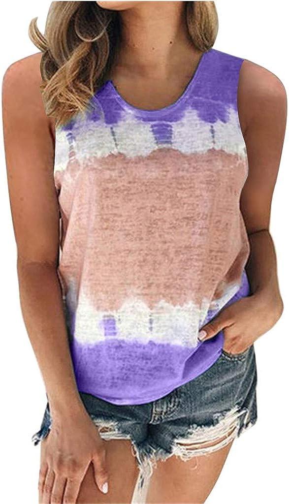 Gerichy Womens Tank Tops Dressy Casual, Womens Fashion Print Vest Tshirt Summer Tank Top Sleeveless Blouse Tunic Tee