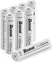 BONAI Batterie Ricaricabili AAA Alta Capacità, Pile Ministilo Rechargeable 1100mAh 1,2V Ni-MH 1200 cicli (confezione da 8)