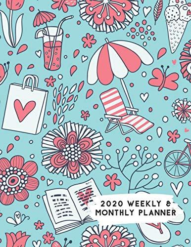 2020 Weekly & Monthly Planner: Beach Summer Themed Calendar & Journal