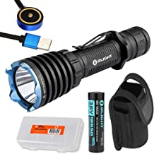 OLIGHT Warrior X 2000 Lumen Rechargeable Tactical Flashlight with Rechargeable Battery, Charging Cable and LumenTac Battery Organizer