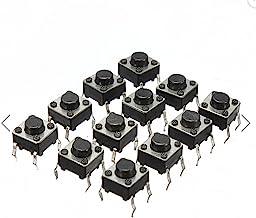 DAOKI 100Pcs 6x6x5 mm Miniature Micro Momentary Tactile Tact Touch Push Button Switch Quality Switch SPST Miniature/Mini/M...