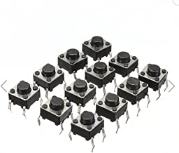 DAOKI 100Pcs 6x6x5 mm Miniature Micro Momentary Tactile Tact Touch Push Button Switch Quality Switch SPST Miniature/Mini/Micro/Small PCB