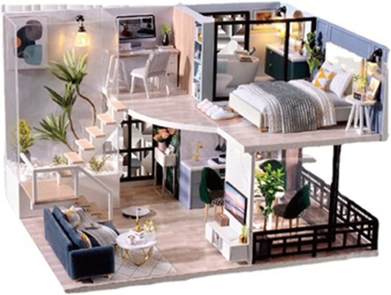 YXLYLL Children's High Large special price !! quality new Hand-Assembled Modern House Cottage DIY Style