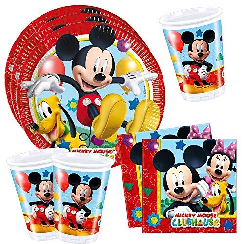 Mickey Mouse Set de Vaisselle Jetable   Disney Assiettes Tasses Serviettes