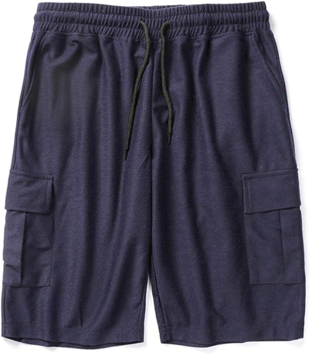 chouyatou Men's Active Drawstring Waist Loose Fit Multi-Pocket SweatShorts Sport Cargo Shorts