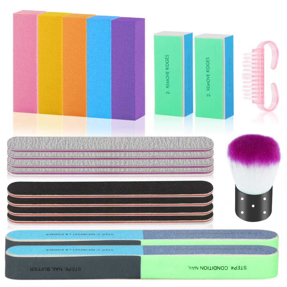 Nail Files mart Ranking TOP20 and Buffers Professional 5pc with Kit Tools Manicure