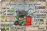 Decoración de jardín para jardín exterior consejos para el jardinero póster, decoración de jardinería interior para baño, hogar, bar, cafetería, garaje, hombre, cueva 8 x 12 pulgadas
