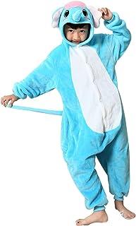 7e9ea7d18c054 Missbleu Deguisement enfant pyjama combinaison animaux pyjama polaire enfant  Elephant taille 140