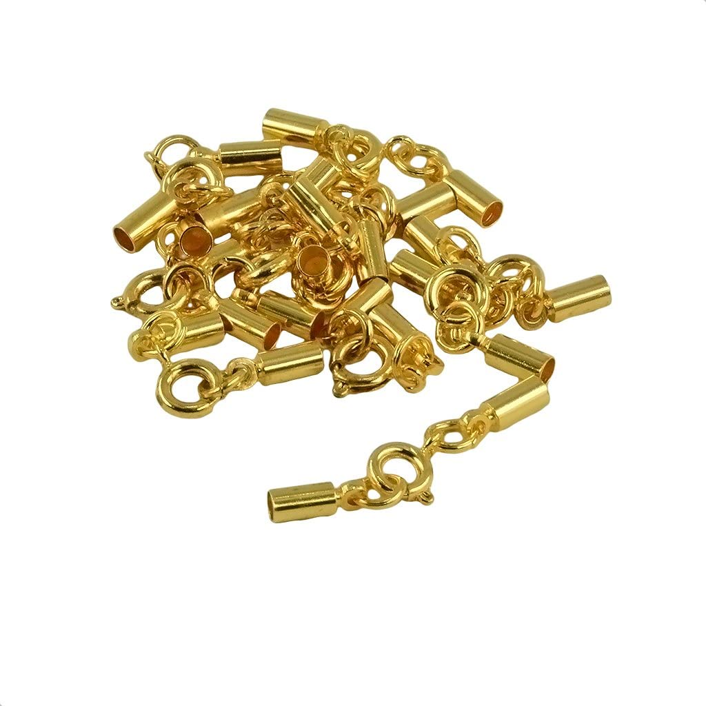 Abbraccia Max 59% OFF 12pcs Round Spring Clasp 3mm Crimp Ends Tube Cheap mail order specialty store Bell Jewe