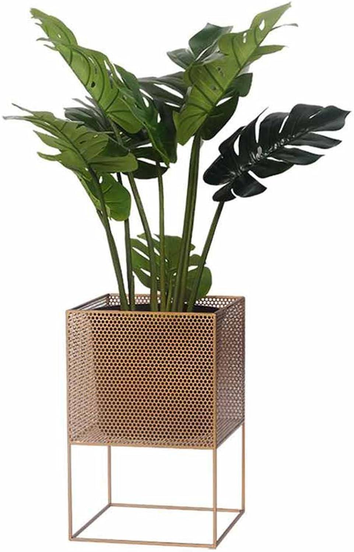 Plant Storage Rack Wrought Iron Flower Stand Balcony Living Room Floor-Standing Flower Pot Flower Shelf - Creative Modern Flower Barrel Length 30 cm x Width 30 m x Height 46 cm