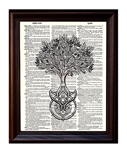 Celtic Tree of Life - Dictionary Art Print
