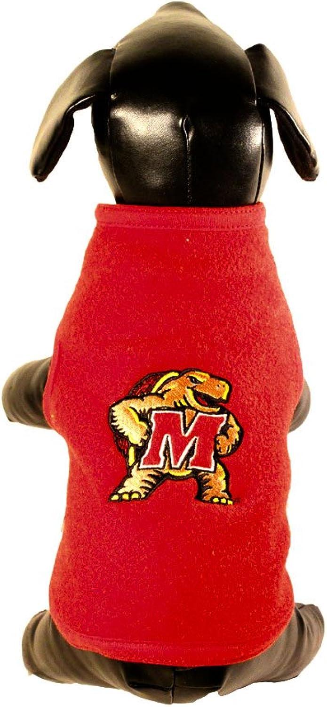 All Star Dogs Maryland Terrapins Polar Fleece Dog Sweatshirt, XXSmall