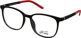 RETRO Unisex-adult Spectacle Frames Square 3001 M.Black/Red
