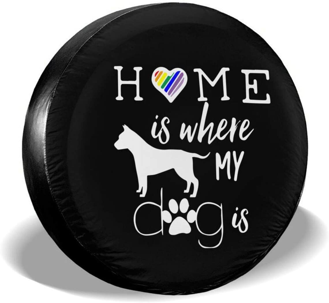 DPT3LTT Home is Where My Dog is Spare Wheel Tire Cover for Jeep Truck RV ect