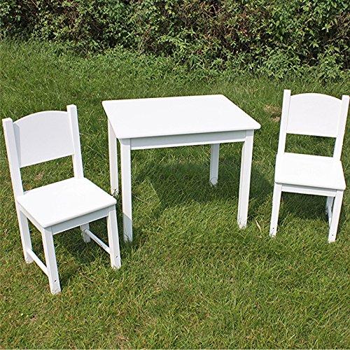 Kindersitzgruppe Tisch und 2 Stühle / Tisch mit 2 Stühlen Kindertisch Kindermöbel Kindersitzgruppe Spielecke Holz weiß