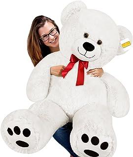 "cucunu Teddy Bear Large White 4.6 ft Giant Stuffed Polar Bears Huge Plush Animal 55 "" Inch Toy"