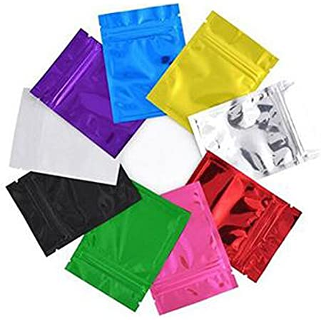 20//100pcs Aluminum Foil Self-sealing Bag Food Storage Package Pouch
