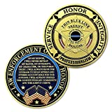 Thin Blue Line Sheriff Police Challenge Coin Law Enforcement Oath of Honor
