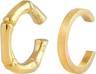 Elli Orecchini Orecchini Earcuff Look Bambù Estate Basic Minimal Trend da Donna in Argento Sterling 925
