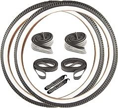 Beach Cruiser Street Leisure Wire Bead Whitewall 26 x 2.125 OEM Replacement Bike Tire Tube Rim Strip Lever Kit Bundle