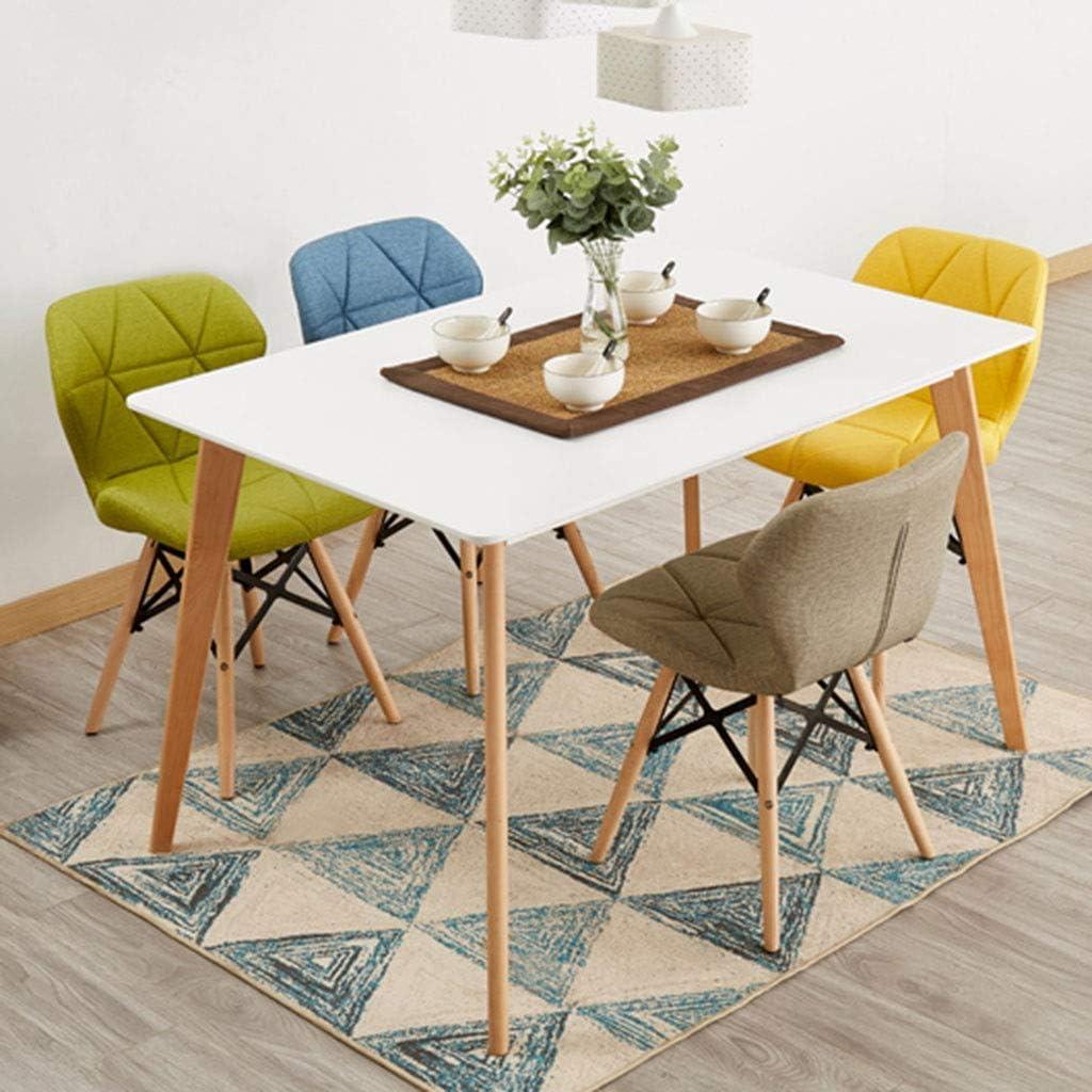 HEJINXL Dans Cuisine Maison Cuir Type Tissu + PP Écologique Bois Massif Jambes Cuisine Chaise Prélasser Adapté Pour Salon Bureau (Color : C) F