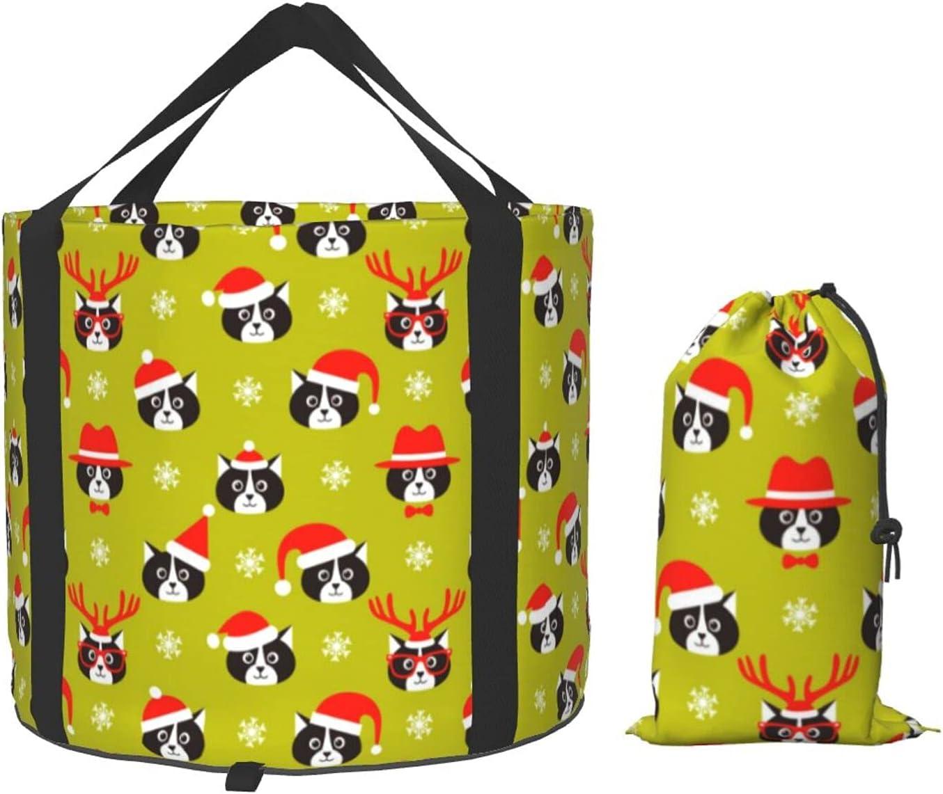 Multifunctional Portable Collapsible Bucket Xmas Daily bargain sale Over item handling Foldi Cat Santa