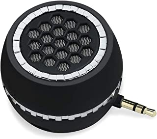 I-VOM 3W Mini Portable Line-in Speaker with Clear Bass 3.5mm AUX Audio Interface, Plug and Play for Phone iPhone, iPad, iPod, Touch,Tablet, Computer (Black)
