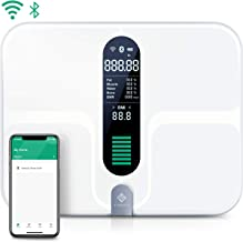 Etekcity Smart Bluetooth Body Fat Scale - Digital Bathroom Weight Scale with 12 Essential Measurements, Large Platform and Clear LCD Display, ITO Conductive Glass, FDA Approved, 400lb(180kg)