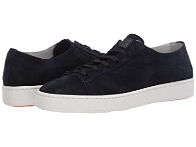 Santoni Cleanic Sneaker (Blue Suede) Men