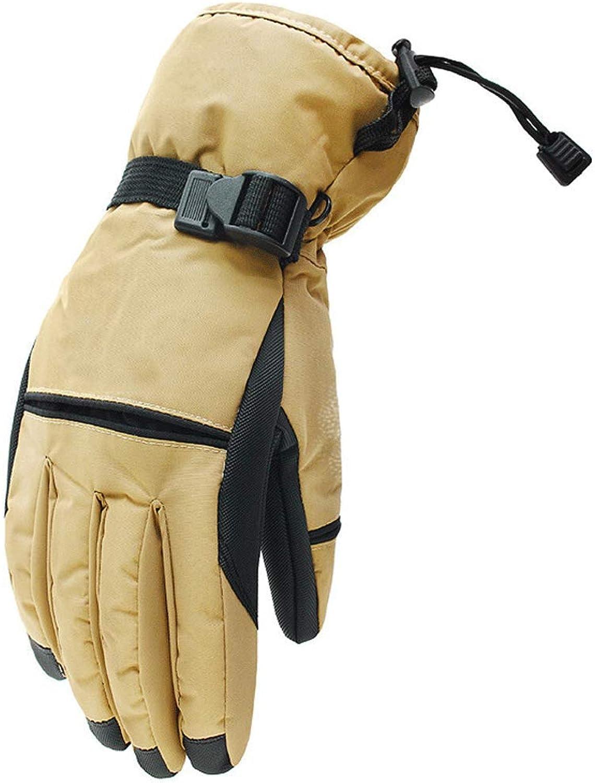KLEDDP Winter Herren Skischuhe Dicke Warme Winter Outdoor Reiten Wandern Wasserdicht Winddicht Anti-Rutsch-Handschuhe Handschuhe für Mnner