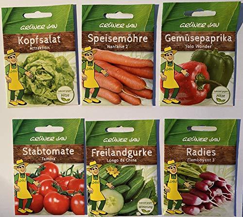 Grüner Jan - 6 x Saatgut Gemüse:...
