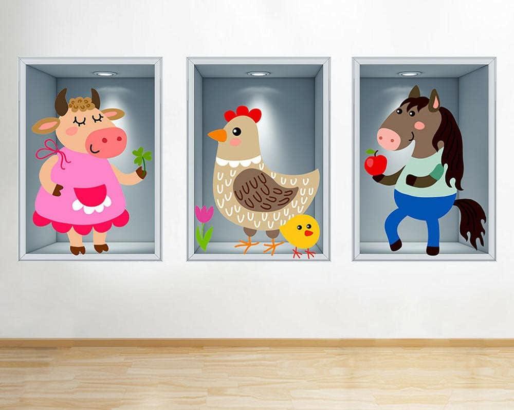 CSCH Wall Stickers Murals Farm Our shop most popular Kids Cow Horse Sti Animals Financial sales sale