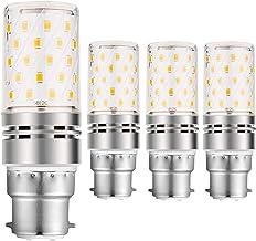 B22 السوبر مشرق LED الذرة ضوء لمبة، 12W المتوهجة المكافئة 100W 1200LM 360 شعاع زاوية، لا وميض لمبة الذرة الخفيفة ديكور,Col...