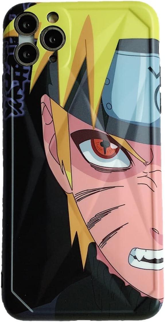 Anime Naruto Phone Case Designed for iPhone 12promax,Silicone Catoon TPU Anti-Drop iPhone 12promax(Uzumaki Naruto)