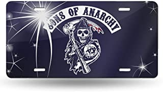 Black6red Sons of Anarchy Reaper Crew License Plate Frame Tag Holder 6