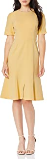 Donna Morgan Women's Split Sleeve Fit and Flare Dress