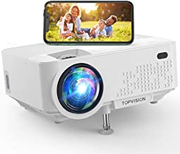 "Wi-Fi Projector, TOPVISION 5500L Mini Projector with Synchronize Smart Phone Screen, Full HD 1080P Projector and 240"" Disp..."