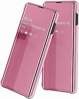 حافظة FanTing لهاتف Samsung Galaxy A50s ، فليب مرآة شفافة + حافظة خلفية صلبة من TPU ، حافظة هاتف ذكية مضادة للانزلاق ومضاد...