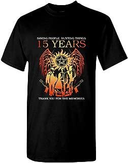 15 Years Anniversary Supernatural Saving People Hunting Things Thank You for The Memories Shirt Unisex T-Shirt Sweatshirt