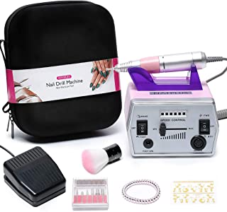Nail Drill Machine, NATPLUS Professional 30000 RPM Electric Manicure Drill E-file with Nail Drill Bits for Nail Art Acrylic Gel Nails (with EVA Bag)