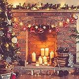 Camelize Stück Holz Weihnachten Deko Weihnachten Holzanhänger Weihnachstbaum Schmuck Natürlicher Christbaum-Behang für Weihnachten Geschenke DIY Handwerk Basteln - 6